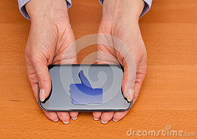 Like icon on smartphone