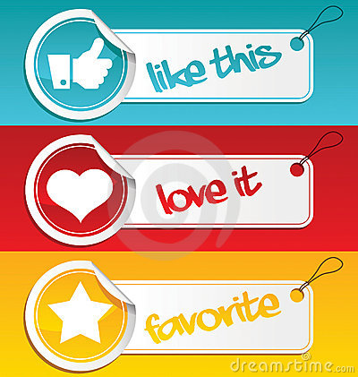 Like, Love and Favorite Tags.
