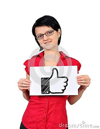 Like symbol Editorial Photo