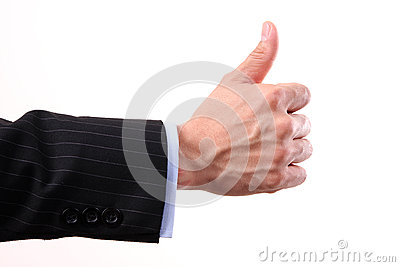 Like thumbs up sign on white background