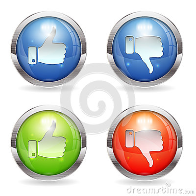 Like & Unlike Button Editorial Stock Image