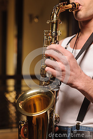 He likes to improvise on his saxophone