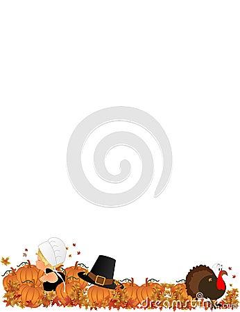 Lil Pilgrim girl in Pumpkin Patch