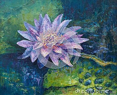 Lila Wasserlilie