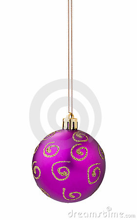 Lilac christmas ball cutout