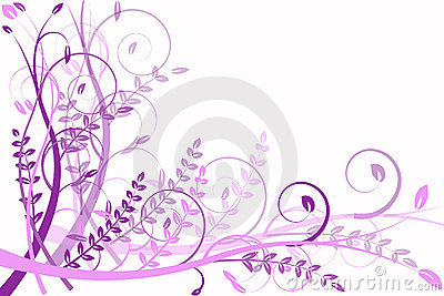 Lilac flower abstraction, pattern