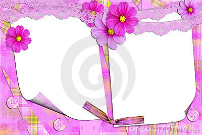 Lilac frame with florets