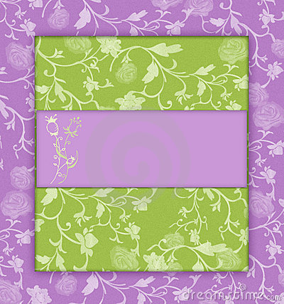 Lilac with green floral vintage
