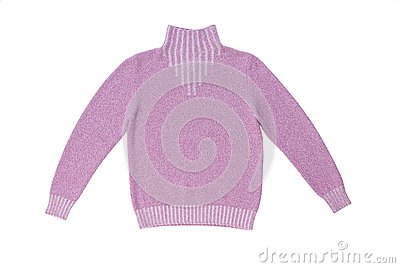 Lilac knitted sweater.