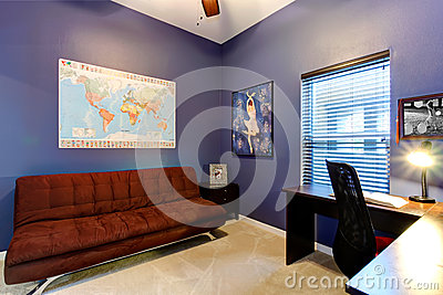 Lilac office room
