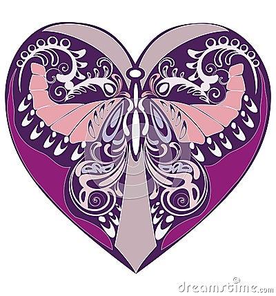 Lilac  ornament with flourish