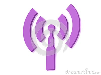 Lilac RSS antenna with two signals radio waves