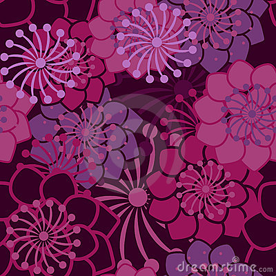 Lilac texture with flowers