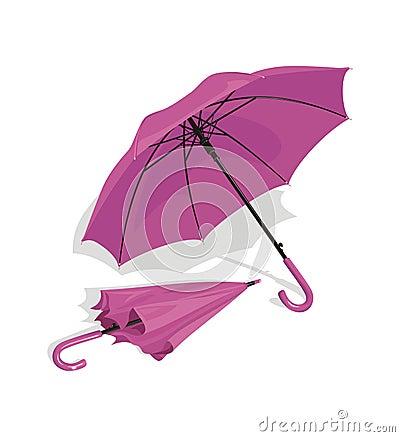 Lilac umbrellas
