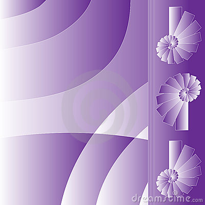 Lilac And White Background With Spirals Royalty Free Stock Images - Image: 10047439