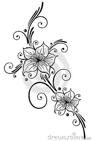 lilien blumen vektor abbildung bild 39093141. Black Bedroom Furniture Sets. Home Design Ideas