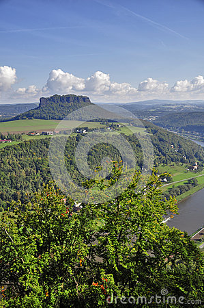 Free Lilienstein Mesa Above The River Elbe. Stock Photo - 34100010