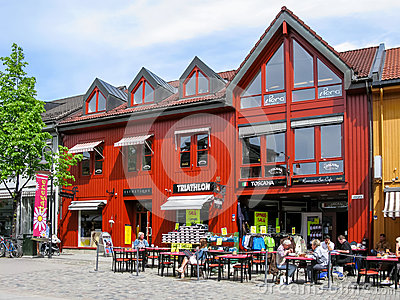 Lillehammer city centre, Norway Editorial Image
