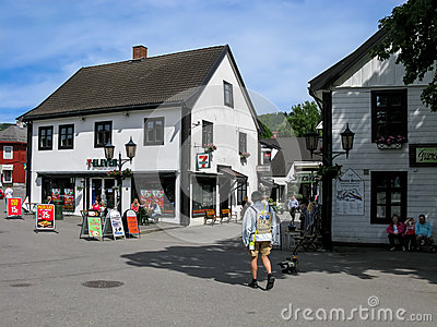 Lillehammer city centre, Norway Editorial Stock Image