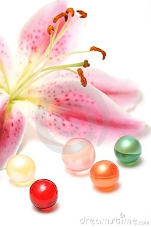 Lily and bath oil pearls