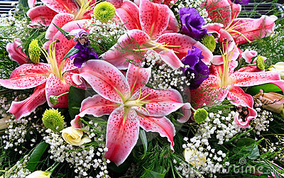Lily flowers bouquet