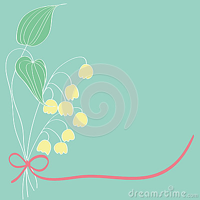 Lily of the valley card pattern design