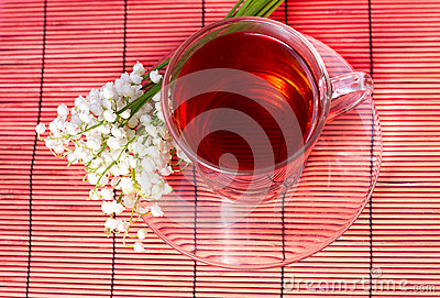 Lily of the valley and a tea