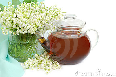 Lily of the valley and teapot