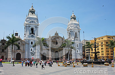 Lima Cathedral in Peru Editorial Stock Photo