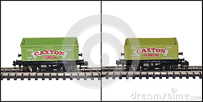 Lima N Gauge Model Railway Wagons, Caxton Editorial Stock Image