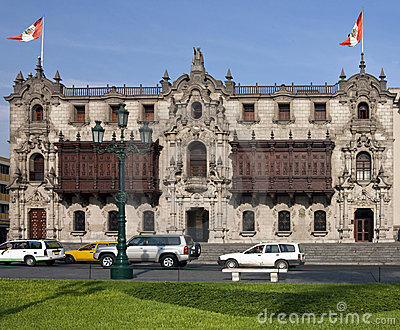 Lima in Peru - Plaza de Armes - South America Editorial Photo