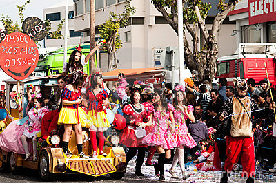 Limassol Carnival Parade, March 6, 2011 Editorial Stock Image