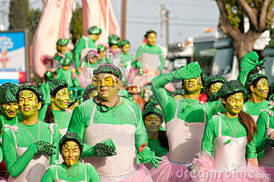 Limassol Carnival Parade, March 6, 2011 Editorial Stock Photo