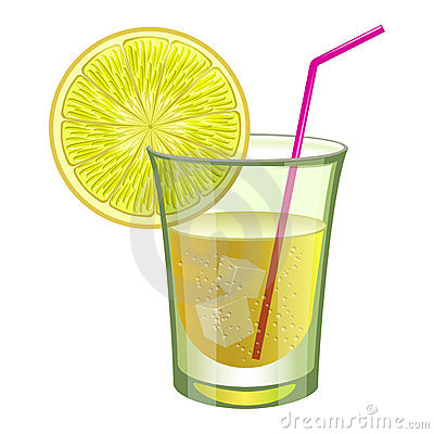 Lime drink with fruit