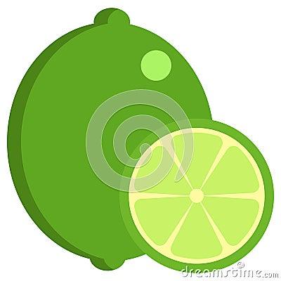 Lime fresh juicy citrus fruit icon, vector illustration Vector Illustration