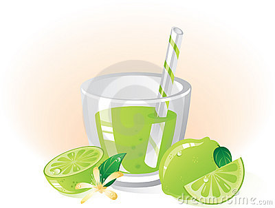 Lime fruit and drink