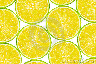 Lime fruit slices