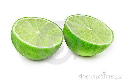 Lime fruit on white