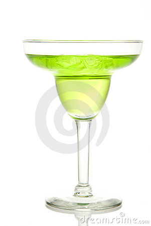 Lime and green apple margarita