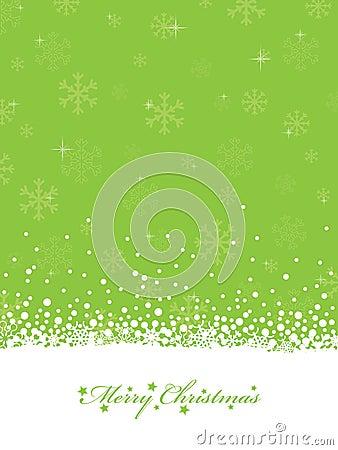 Lime green christmas Vector Illustration