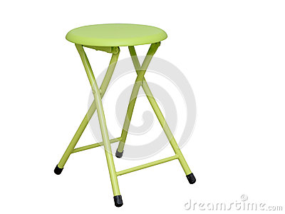 Lime green folding stool