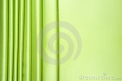 Lime green satin stripes pattern