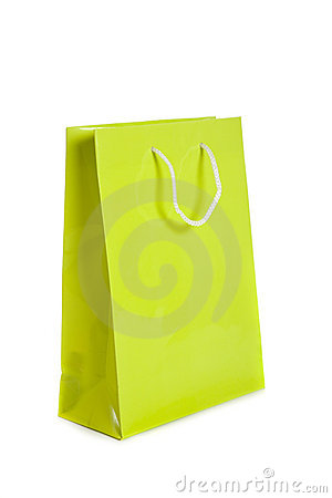 Lime green shopping bag