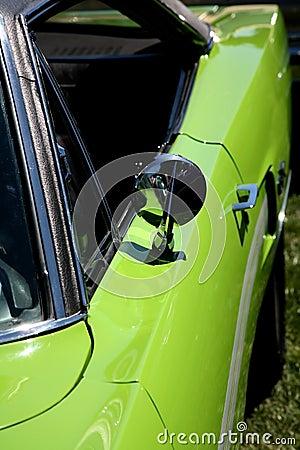 Lime Green Sports Car