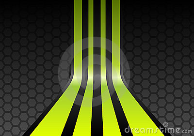 Lime green stripes