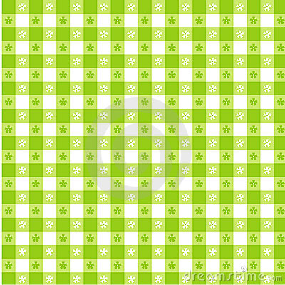 Lime Green Tablecloth Seamless Pattern