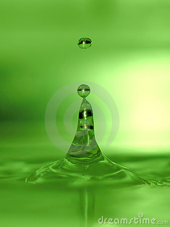 Free Lime Green Water Drops Royalty Free Stock Photography - 28617