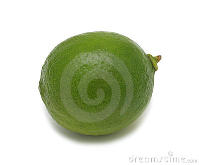 Lime, isolated