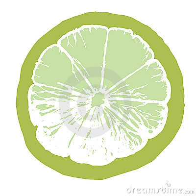 Lime juice slice