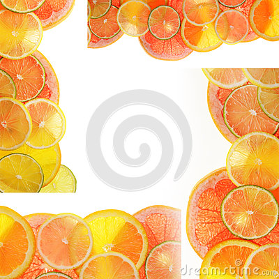 Lime lemon grapefruit and orange slices